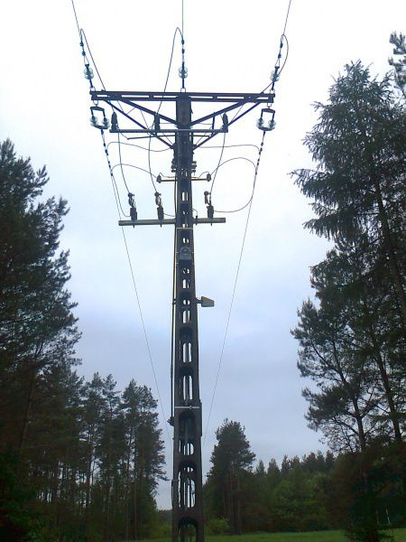 Modernization sections of the overhead medium voltage lines in region Milejewo