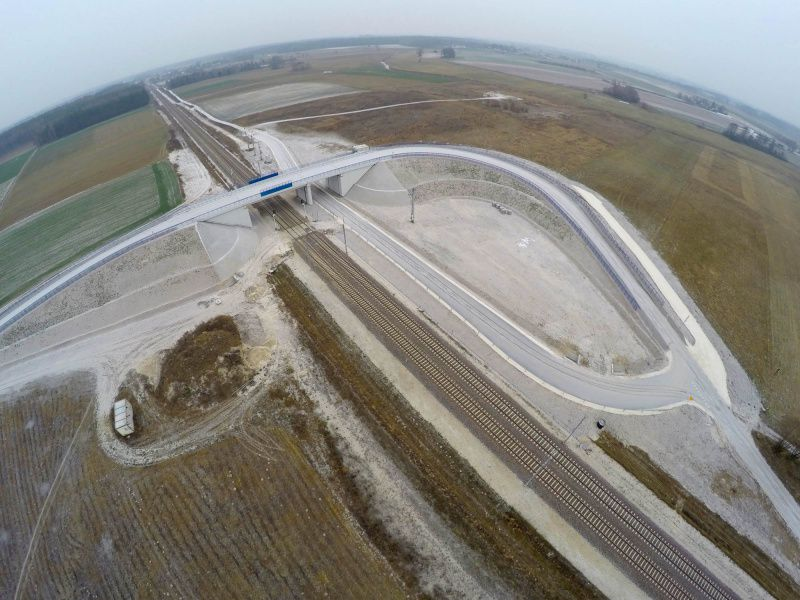Continuation of works connected with the construction of new two-level intersections within the area of the Ciechanów Local Control Centre